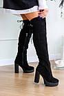 Жіночі ботфорти Fashion Brier 2335 36 розмір, 23,5 см Чорний, фото 7