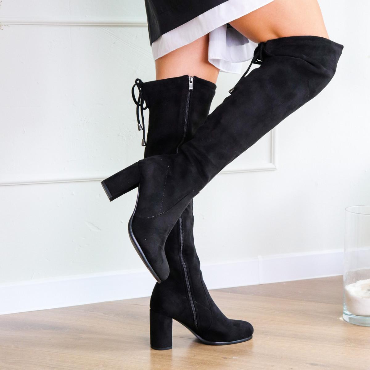 Ботфорты женские Fashion Kawii 2284 37 размер 24 см Черный