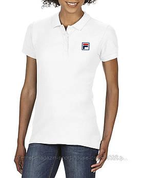 Жіноча бавовняна теніска Філа (Fila) з брендовим логотипом, репліка