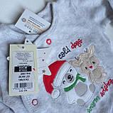 Новогодняя велюровая кофта для новорожденного малыша 50 рост Cool club, фото 2