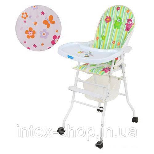 Детский стульчик для кормления M 0406 зеленый
