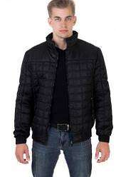 Укорочені куртки чоловічі осінь весна чорні розміри 48-56