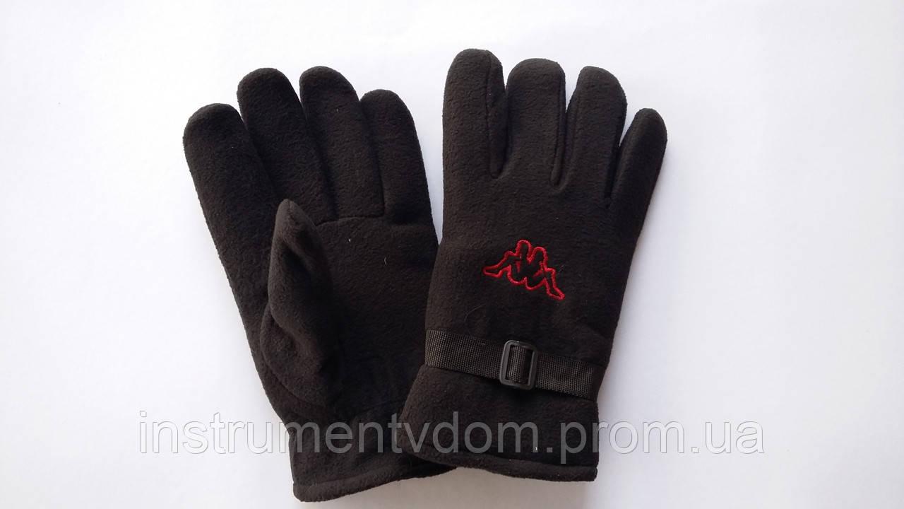 Перчатки черные с двойным флисом (упаковка 10 пар)