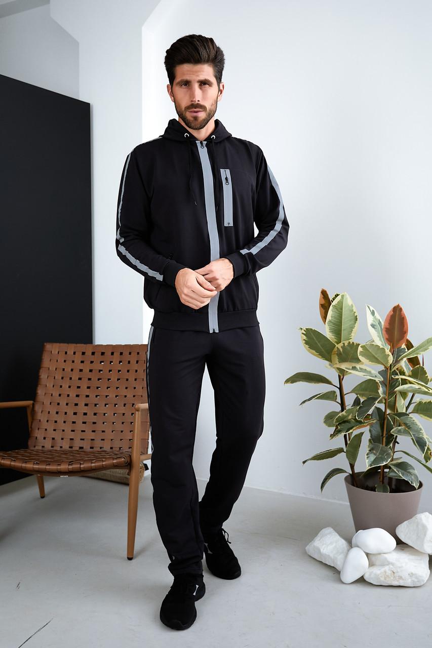 Мужской спортивный трикотажный костюм Tailer со светоотражающими элементами