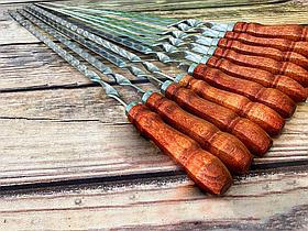 """Набір шампурів Mavens """"ВІП"""" з дерев'яною ручкою, 10 шт"""