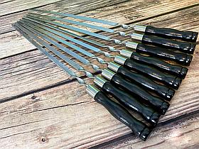 """Набір шампурів Mavens """"Black"""" з дерев'яною ручкою, 9 шт"""