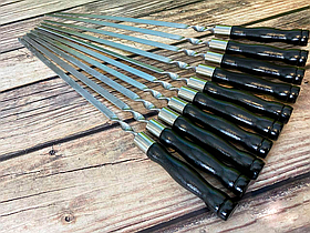 """Набір шампурів Mavens """"Black"""" з дерев'яною ручкою, 10 шт"""