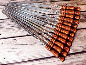"""Набір шампурів Mavens """"Luxury"""" з дерев'яною ручкою, 12 шт"""