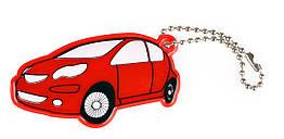Мягкая светоотражающая подвеска Refloactive Машинка Красный ZZ, КОД: 2651194