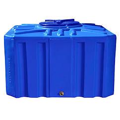 Емкость Рото Европласт квадратная двухслойная 500 л Синяя 18 ZZ, КОД: 1881715