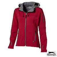 Куртка-ветровка женская на флисе с капюшоном от ТМ Slazenger синяя, красная, чёрная, под  нанесение логотипа