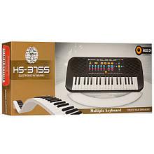 Детский музыкальный инструмент Детский синтезатор HS3755, 37 клавиш (HS3755A (Черный)) игрушка