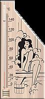 Термометр для сауны ИСП-5 из дерева, разные картинки, фото 1