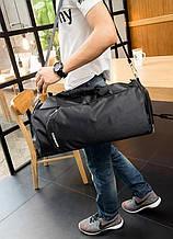 Спортивная сумка с отделом для обуви. Дорожная сумка через плечо. Мужская сумка фитнес. ГС20