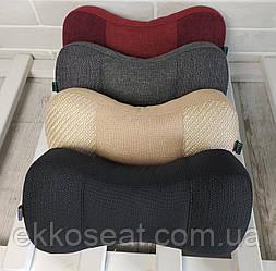 Ортопедическая автомобильная подушка на подголовник под шею - трёхсекционные