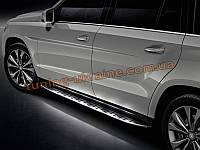 Боковые пороги оригинал на Mercedes-Benz ML 2012+