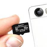 Карта пам'яті 32 ГБ microSD Class 10 для техніки мікро СД без адаптера флеш картка, фото 5