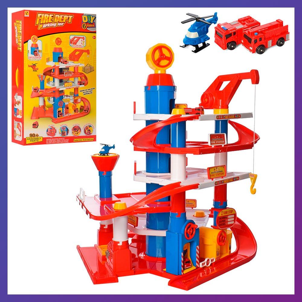 Детская игрушка паркинг-гараж для машин 866-32 транспорт четыре этажа кран лифт
