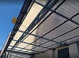 Профільний полікарбонат Suntuf колотий лід (1,06х4м) прозорий 2УФ-захист, фото 4