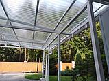 Профільний полікарбонат Suntuf колотий лід (1,06х4м) прозорий 2УФ-захист, фото 3