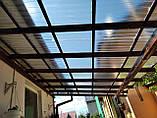 Профільний полікарбонат Suntuf колотий лід (1,06х4м) прозорий 2УФ-захист, фото 5