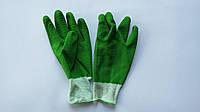 Перчатки рыбацкие зеленые из вулканизированной резины (упаковка 12 пар)