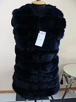 Шикарный меховой жилет - поперечка, фото 1