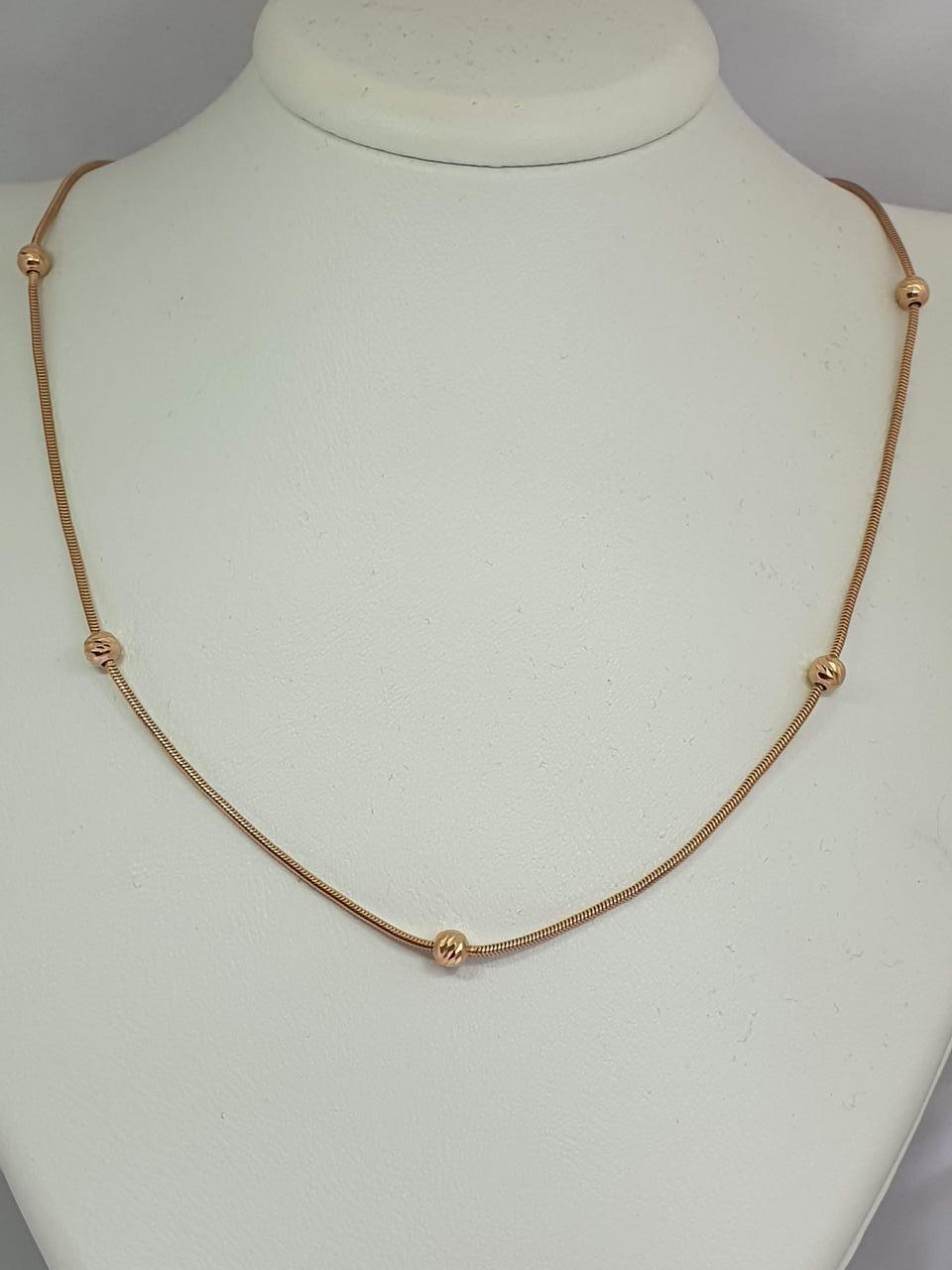 Золотая цепочка (Снейк с бусинами). Артикул ЦП305(1)И 50