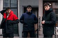 Демисезонная мужская куртка с водоотталкивающей пропиткой черная S M L XL