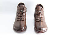 Женские ботинки на низком ходу размеры 39-42 JUVKEL 88-5-brown, фото 3
