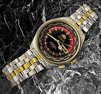 Орієнт автоматичний годинник світовий час чоловічий календар старовинні японські чоловіки дайвер циферблат 21