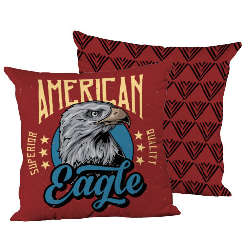Подушка декоративна шовкова American eagle 45x45 см (45IS_JOY007)