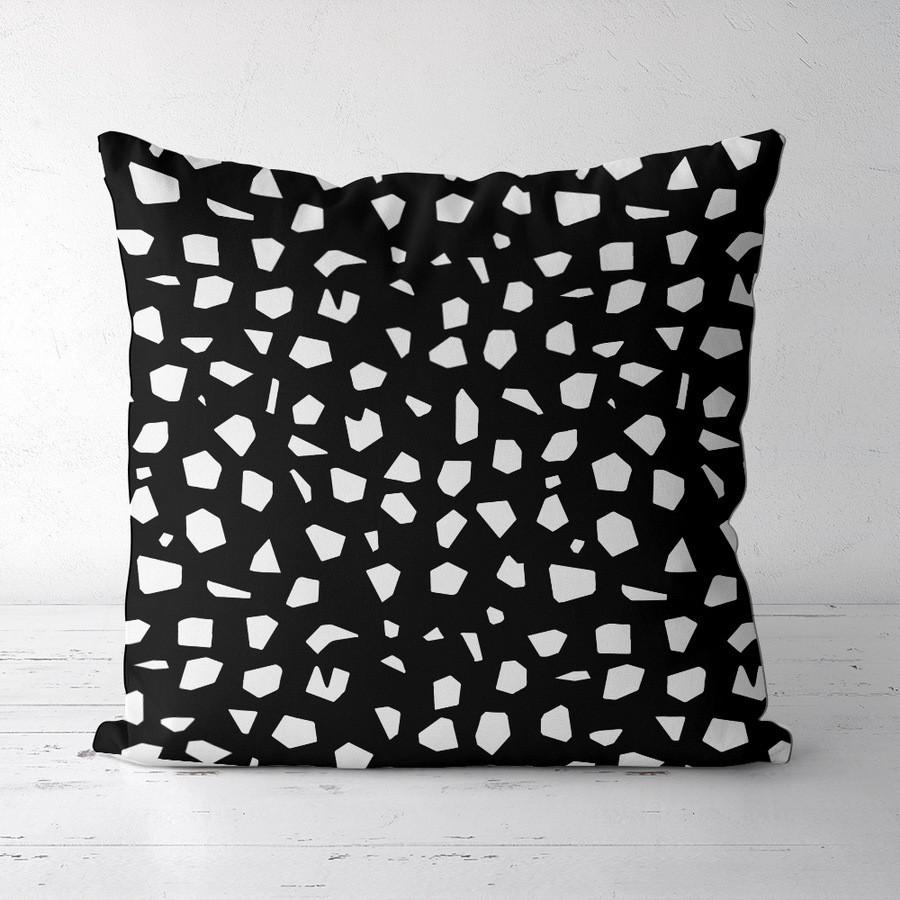 Подушка декоративна шовкова Стекляшки на черном фоне 45x45 см (45IS_SEA007)