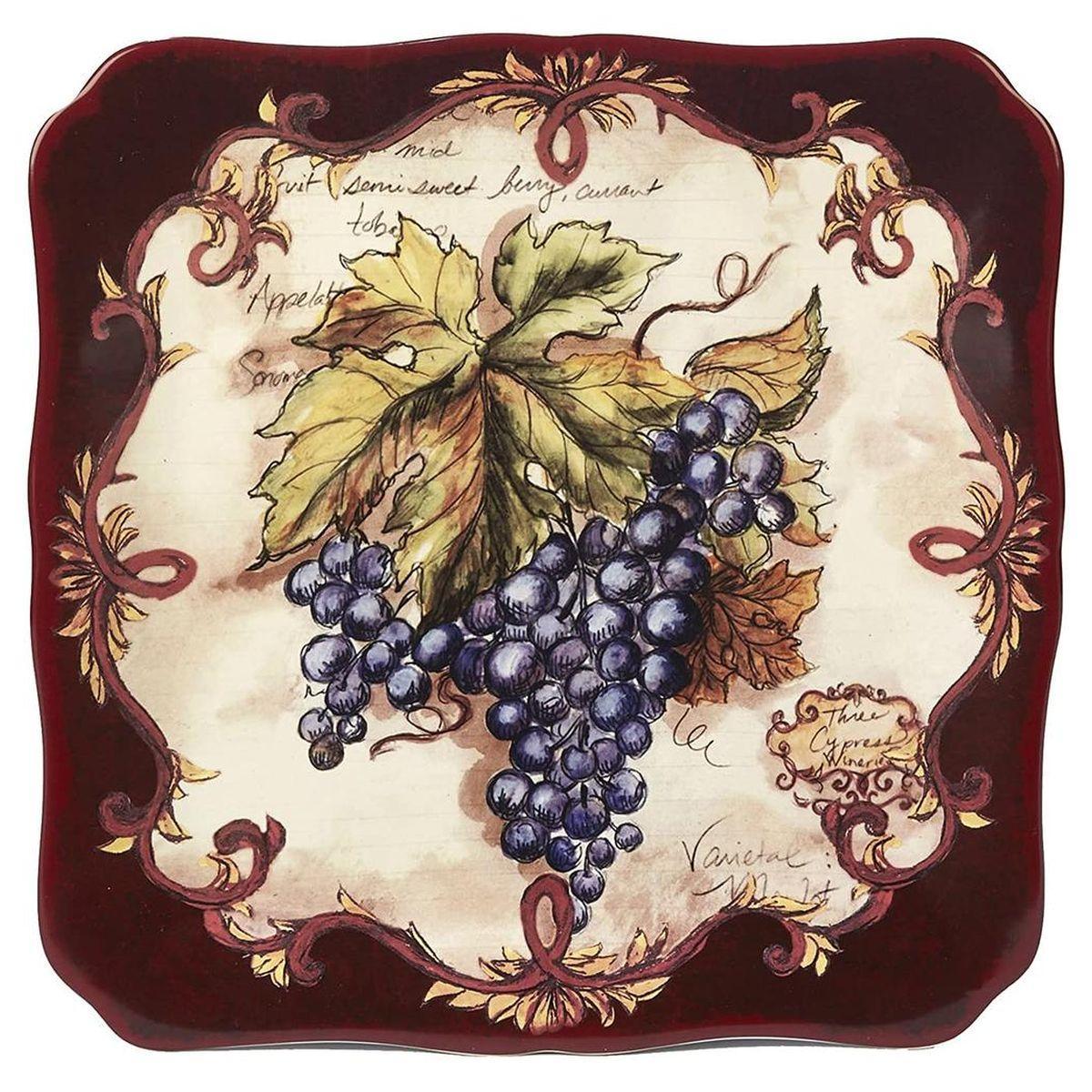 Блюдо квадратне 32*32см Таємниці Виноробів Certified International