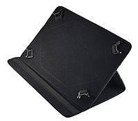 Черный чехол для планшета диагональю 10 дюймов на зажимах в уголках