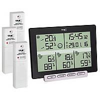 """Термогигрометр цифровой TFA """"Multi-Sense"""", 3 внешних радиодатчика, 157x42x120 мм"""