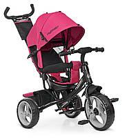 Велосипед детский трехколесный колясочный Turbotrike колеса EVA, тормоз, подшипники розовый