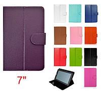Фиолетовый чехол для планшета диагональю 7 дюймов на резинках