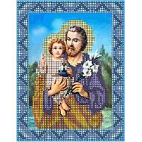 Св. Иосиф с Иисусом размер: 13*17  К-во цветов: 8