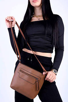 Женская сумка коричневая код 7-1803