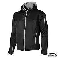 Куртка демисезонная на флисе с капюшоном от Slazenger, синяя, красная, чёрная, больших размеров, ветровки XL