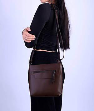 Женская сумка темно-коричневая код 7-1803