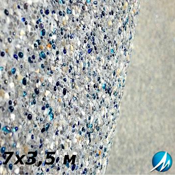 Оздоблення кам'яною крихтою бетонної чаші басейну 7х3,5 м