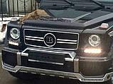 """Накладка на передний бампер """"домик"""" Mercedes G-class W463 стиль Brabus, фото 6"""