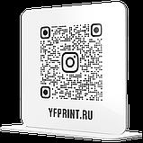 Металева Настінна Instagram табличка з QR-кодом на липкій основі-двосторонньому скотчі срібло, фото 6