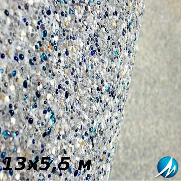 Оздоблення кам'яною крихтою бетонної чаші басейну 13х5,5 м
