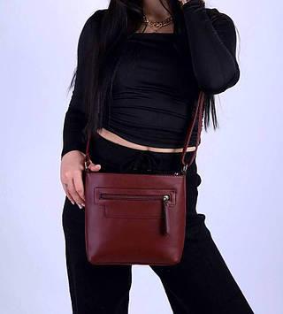 Женская сумка бордовая код 7-1803