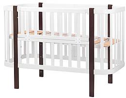 Кровать Babyroom Луна (120x60)  белый - венге