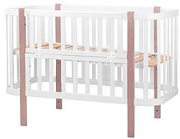 Кровать Babyroom Луна (120x60)  белый - капучино