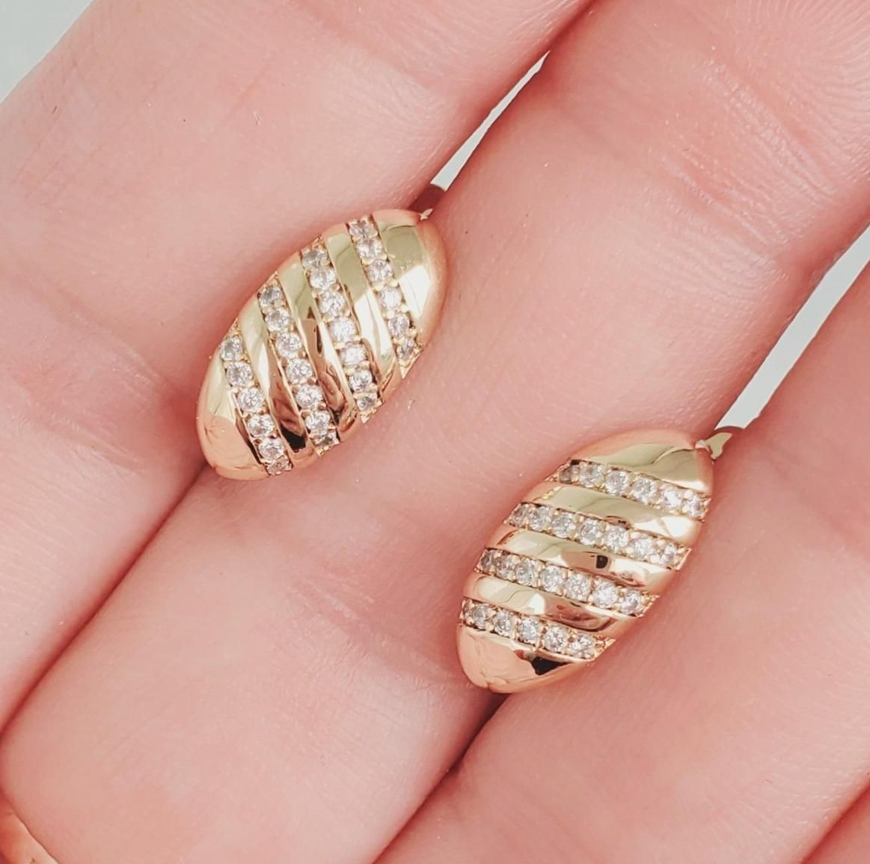 Серьги Xuping длина 1.5см медицинское золото позолота 18К с1080